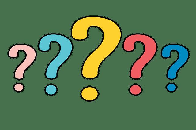 question mark for telehealth
