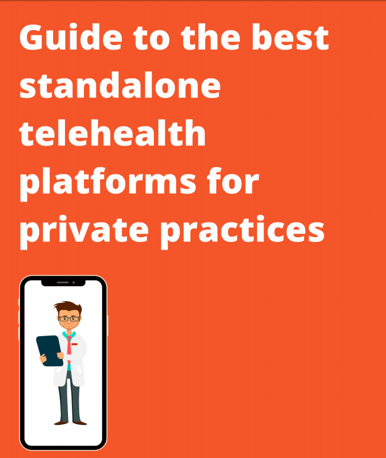 Cover page for Guide to Telehealth Platforms